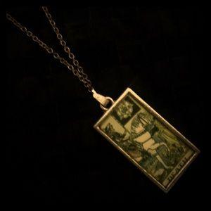 Jewelry - Death Major Arcana Tarot Card Silver Necklace